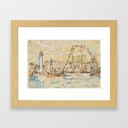 """Paul Signac """"La Rochelle, bateaux pavoisés"""" Framed Art Print"""