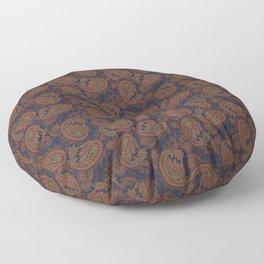 Meredith Paisley - Indigo Blue Floor Pillow