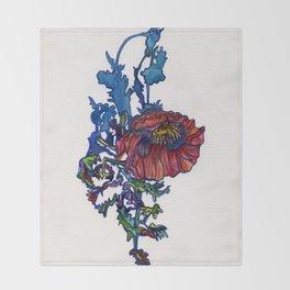 Poppy Shadow Throw Blanket