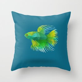 Japanese Fighting Fish. Throw Pillow