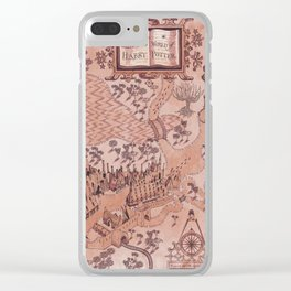 wizarding world of harrypotter map Clear iPhone Case