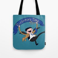 castiel Tote Bags featuring Castiel by Charleighkat
