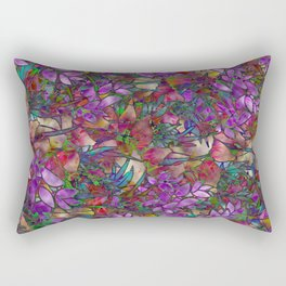 Floral Abstract Stained Glass G175 Rectangular Pillow
