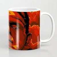 frankenstein Mugs featuring Frankenstein by Denis O'Sullivan