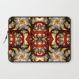 Fractal Art - Spiral in red and gold Laptop Sleeve