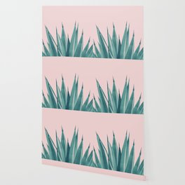 Blush Agave Dream #1 #tropical #decor #art #society6 Wallpaper