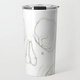 Female Down Syndrome Skull Travel Mug