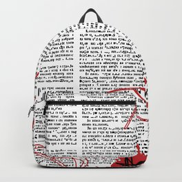 Hebrew News Papper Backpack