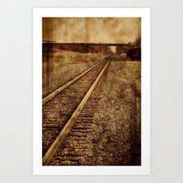 The Old Rails Art Print