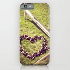 Anchored by Love. Nautical Photograph.  Anchor, Heart Chain Slim Case iPhone 6s