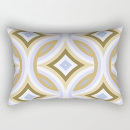 Funky Retro Abstract Mod Fantasy Pattern Rectangular Pillow