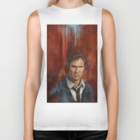 true detective Biker Tanks featuring True Detective by LucioL
