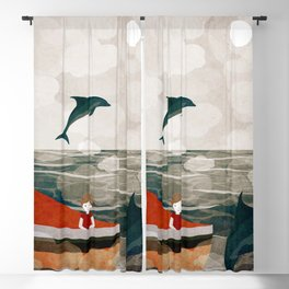 When dolphins are around 8 Blackout Curtain