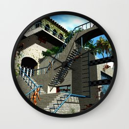Optical Illusion - Tribute to Escher Wall Clock