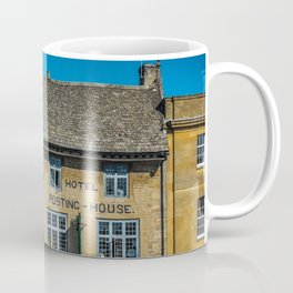 The Kings Arms Tow Square Cotswolds English Countryside  Coffee Mug