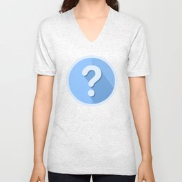 Question Mark Icon Unisex V-Neck