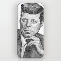 jfk iPhone & iPod Skins featuring JFK by Monifa Charles