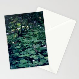 Clover on Redwood Stationery Cards