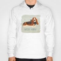 the hound Hoodies featuring Basset Hound by 52 Dogs