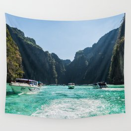 Thailand Boats Wall Tapestry