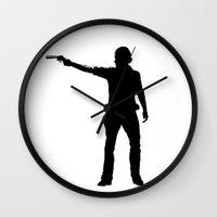 cowboy Wall Clocks featuring cowboy by kevinz45