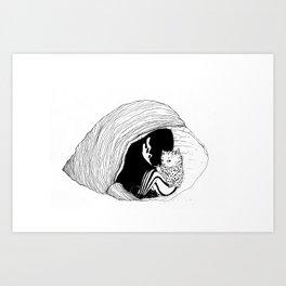 Cat in chell Art Print