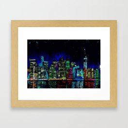 Manhattan skyline from Brooklyn Framed Art Print