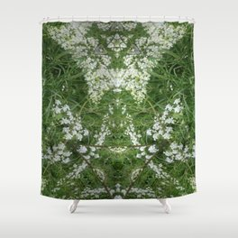 The Cow Parsley Goblin Shower Curtain