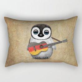Baby Penguin Playing German Flag Guitar Rectangular Pillow