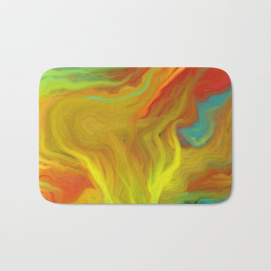 AGATE ABSTRACT OIL PAINTING Bath Mat