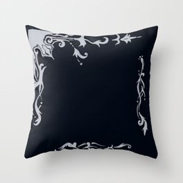 Victorian Boarder Throw Pillow