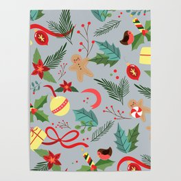 Christmas Pattern 9 Poster