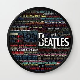 lyric visual Wall Clock