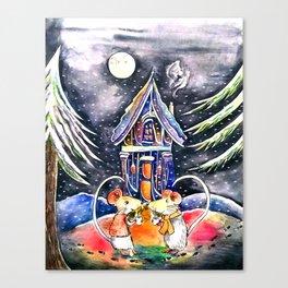 Christmas Mice Canvas Print