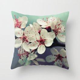 Cherry Blossom, Cherryblossom, Sakura, Vintage Style Throw Pillow