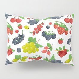 Colorful Berries Pattern Pillow Sham