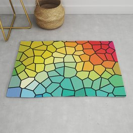 Super Cool Stained Glass Window Rug