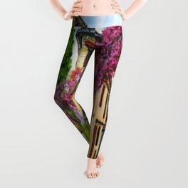 Courtyard in Provence Leggings