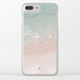 Surf yoga Clear iPhone Case