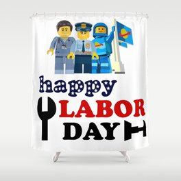 happy labor day Shower Curtain