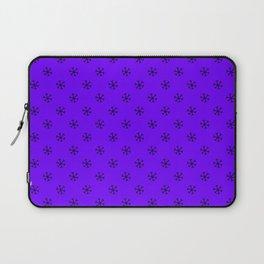 Black on Indigo Violet Snowflakes Laptop Sleeve