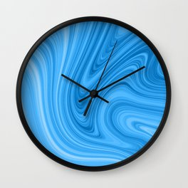 Blue Marbled Agate Wall Clock