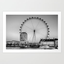 London Eye, London Art Print