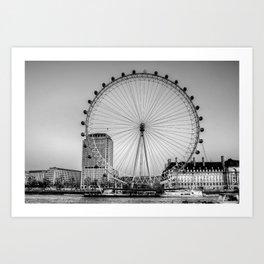 London Eye, London Art Print