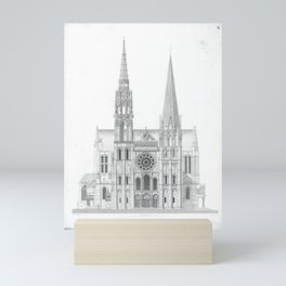 Cathedrale De Chartres Chartres Cathedral Mini Art Print