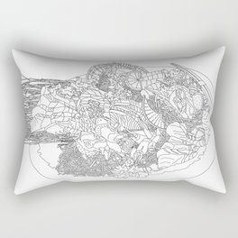 Beautiful Sashimi Set - Line Art Rectangular Pillow