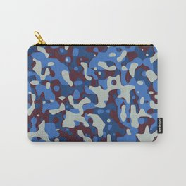 Blue & Burgandy Camo Pattern Carry-All Pouch