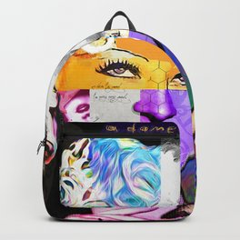 Mae West Collage Art Backpack