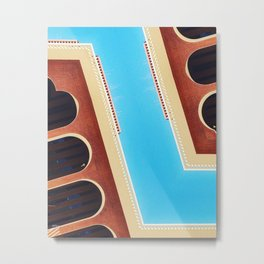 zig zag architecture Metal Print