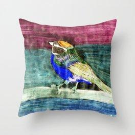 Bunter Vogel Throw Pillow